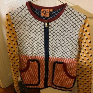 Tory burch zip sweater ! xs